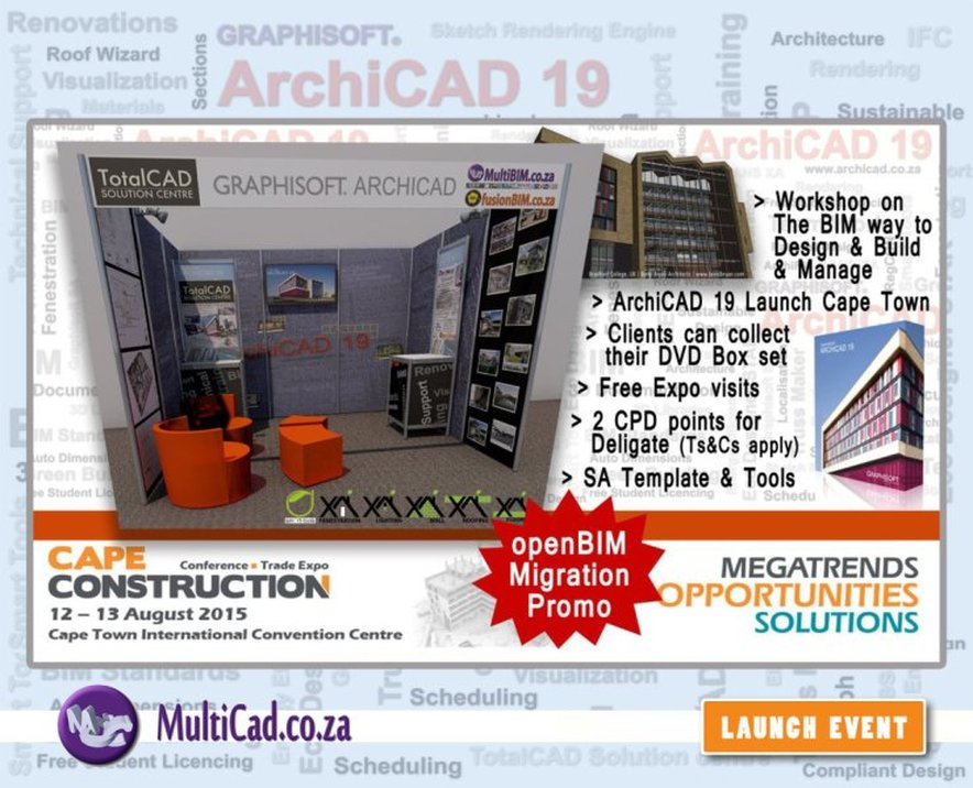openBIM Migration promo | ArchiCAD 19 Launch in Cape Town | South Africa