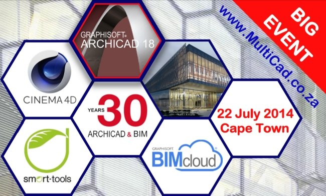 ArchiCAD 18 Training Event | BIMcloud | BIM Server | Teamwork | BIMx Hyper Model | EcoDesigner STAR | MEP Modeler | Cinema 4D
